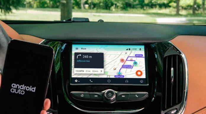 android auto com o waze